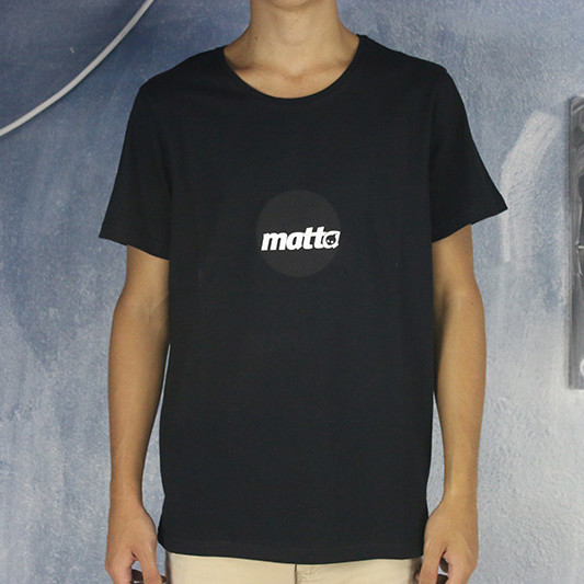 MATTAshapes Round Logo Tee Shirt Black