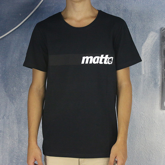 MATTAshapes Stripe Logo Tee Shirt Black